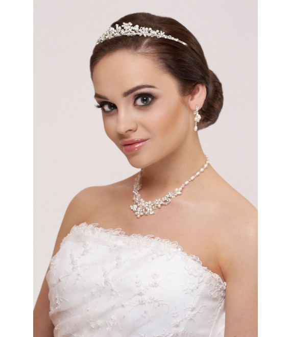 Tiara, Parure Boucles d'Oreilles et Collier - The Beautiful Bride Shop