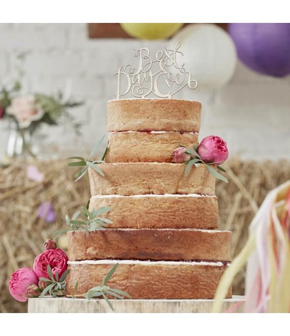 Figurine en bois 'Best Day Ever' - Boho - The Beautiful Bride Shop