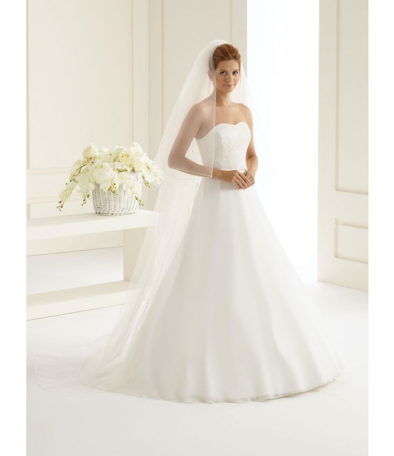 Bianco Evento Voile S126 - The Beautiful Bride Shop 1