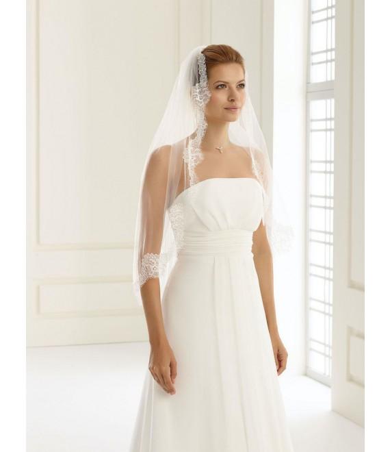 Gina | Single layered veil with fine lace edge S160 -1
