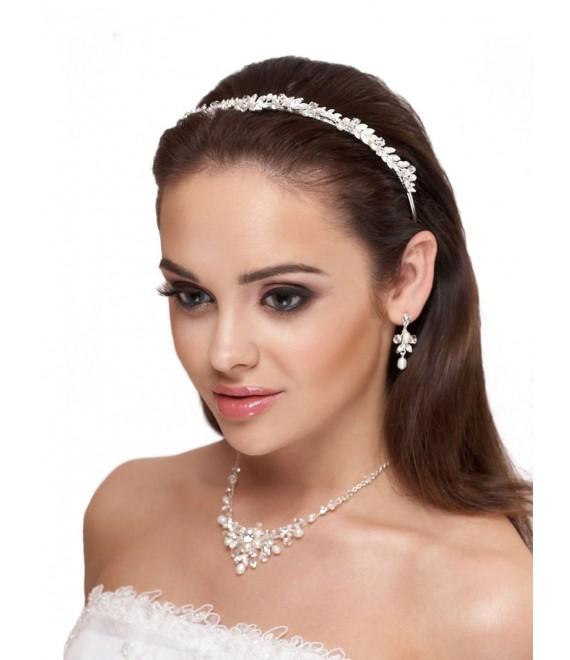 Tiara, Parure Boucles d'Oreilles et Collier D36-N25 - The Beautiful Bride Shop