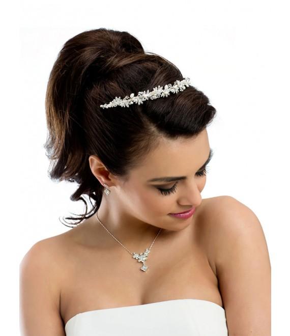 Parure Boucles d'Oreilles et Collier pour la Mariée BBCN9 - The Beautiful Bride Shop