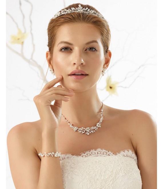 Bianco Evento Diadème pour la Mariée D40 - The Beautiful Bride Shop