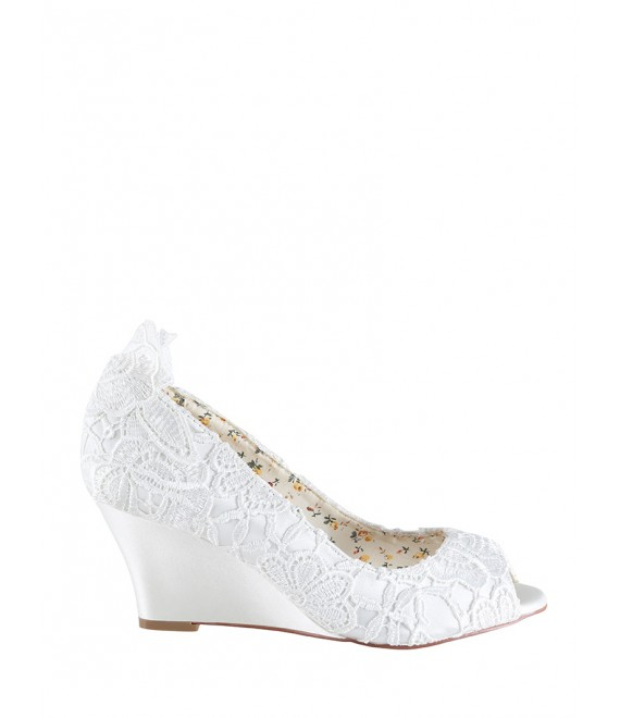 The Perfect Bridal Company Wedding Shoes Flora Lace