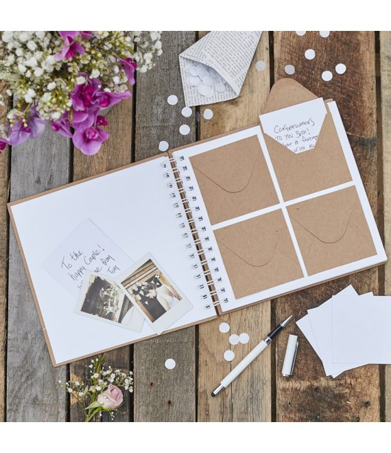 Livre d'or avec enveloppes | Rustic Country