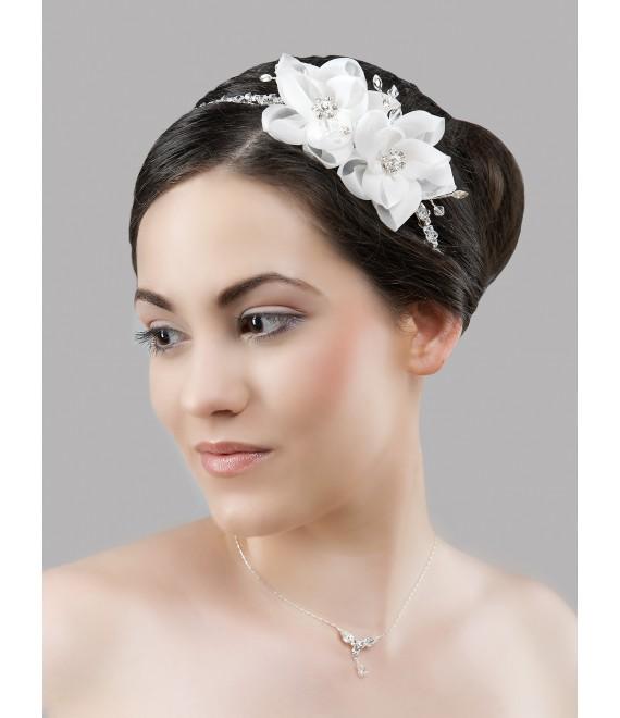 Diadème avec cristaux et coiffure BBCD35 - The Beautiful Bride Shop