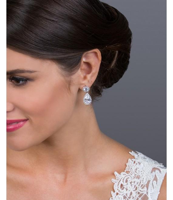 Bridal Earrings - Westerleigh EG0987 - The Beautiful Bride Shop
