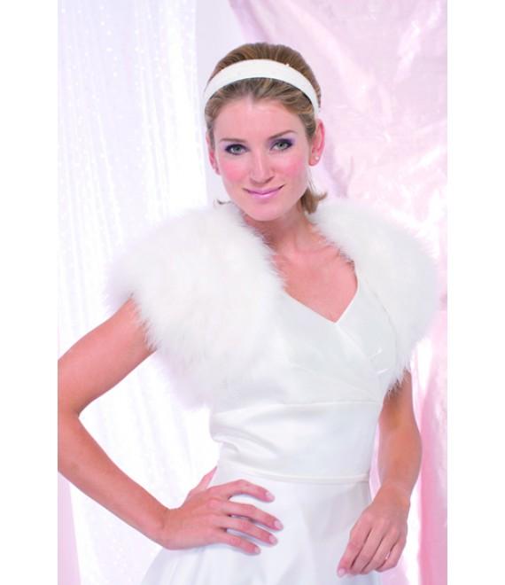 Achberger Veste en plumes de marabout 5680221 - The Beautiful Bride Shop