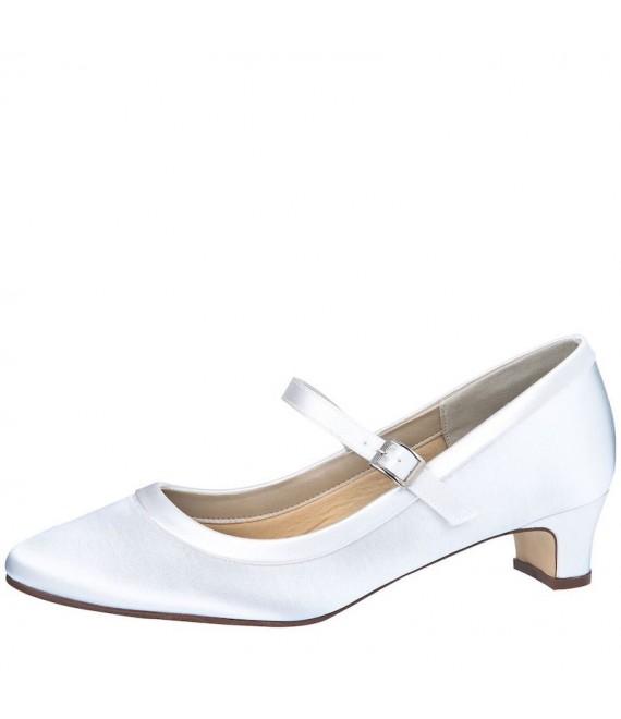 Rainbow Club Chaussures de mariée Larissa Blanc Satin - The Beautiful Bride Shop