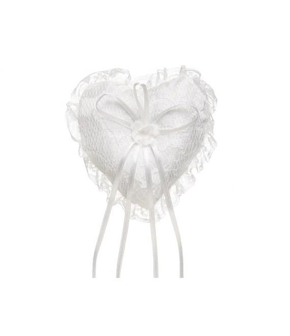 Coussin d'alliances Lilly (15-215-CR-0) - The Beautiful Bride Shop