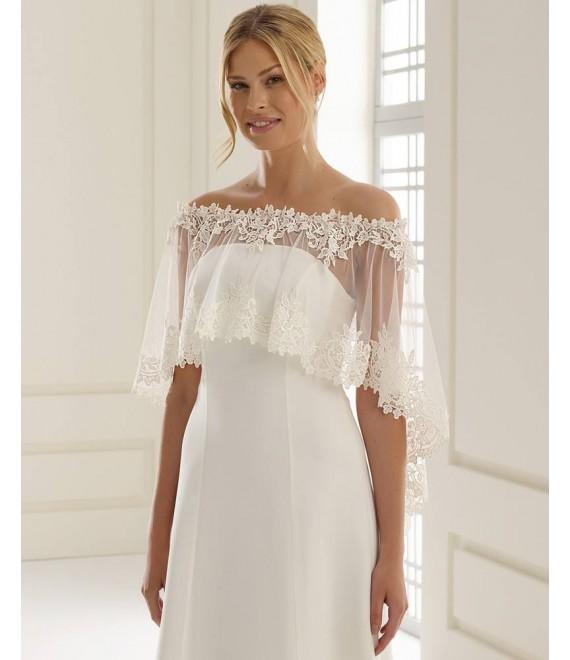 Poncho E244 | Bianco Evento - The Beautiful Bride Shop
