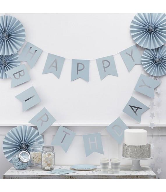 Bleu Happy Birthday Bunting | Pastel Perfection