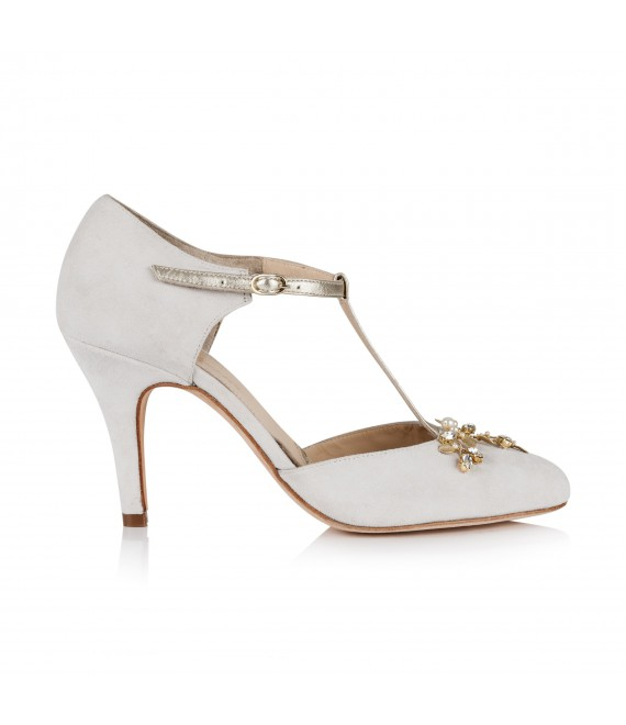 Rainbow Club Wedding shoe Brooke Off-White - The Beautiful Bride Shop 1