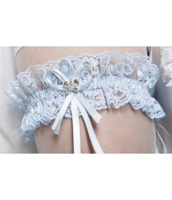 Jarretière Bleu Bianco Evento SB3.1845 - The Beautiful Bride Shop