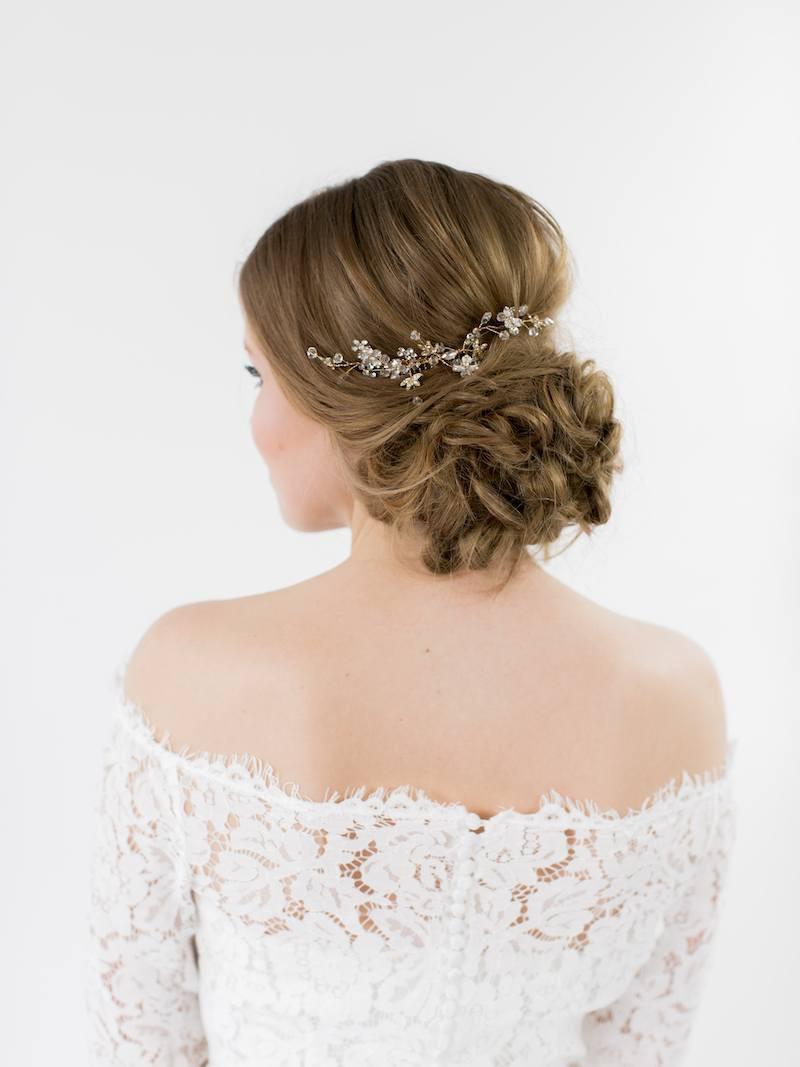 magasins populaires prix raisonnable conception adroite Abrazi H2-Flower Peigne Cheveux Mariage