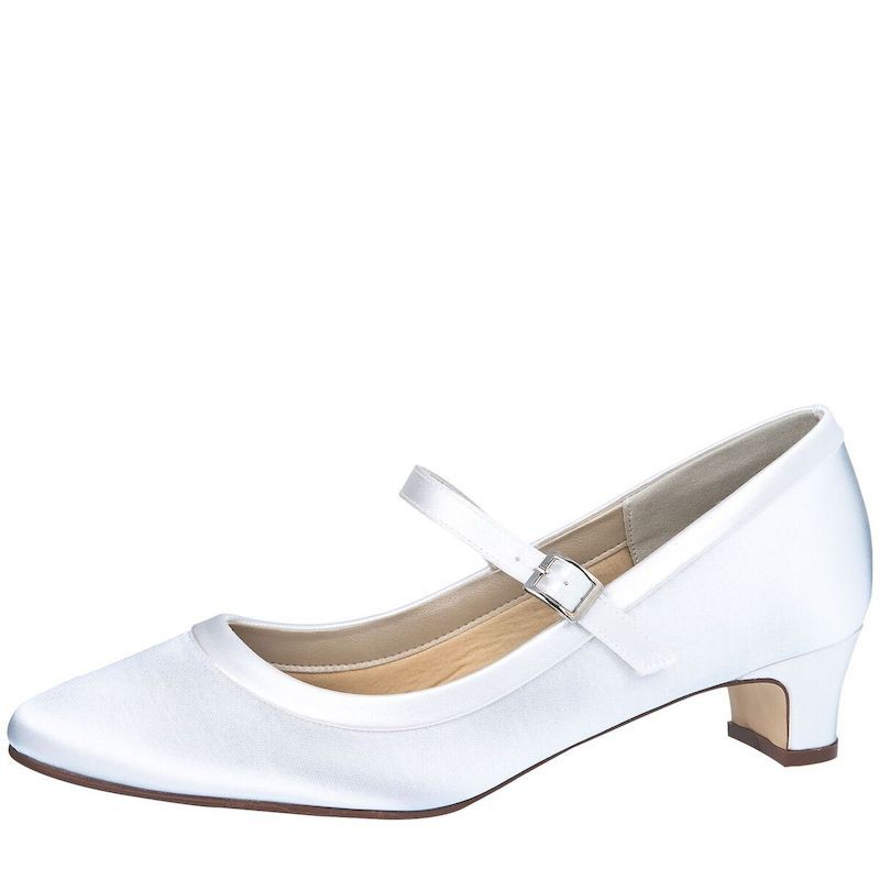 295f04dd007 Rainbow Club Chaussures de mariée Larissa Blanc Satin - The Beautiful Bride  Shop