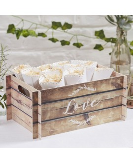 Caisse avec l'impression LOVE - Beautiful Botanics