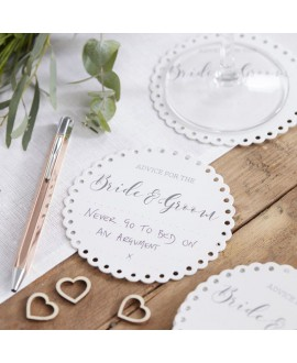 Sous-verres Bride & Groom - Beautiful Botanics