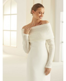 Etole d'épaule tricotée E290 Bianco Evento