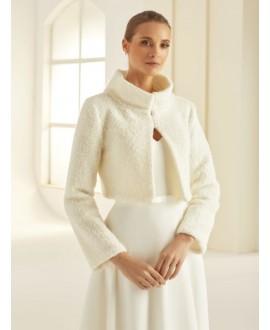 Boléro en laine de haute qualité  E291 Bianco Evento
