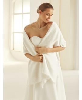 Etole tricotée en maille fine E308 Bianco Evento