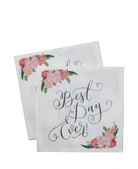 Best Day Ever serviettes - Boho