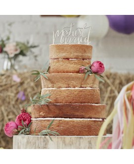 Figurine de gâteau 'Just Married' - Boho
