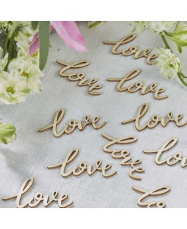 Lettres de confettis Love - Boho