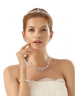 Bianco Evento Ensemble de bijoux de Mariée N27