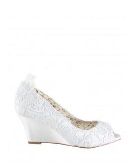 The Perfect Bridal Company Chaussures de Mariée Flora Dentelle