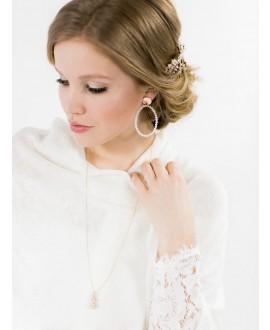 Abrazi Boucles d'oreilles de mariée O6-PSR-RND-WOPAL