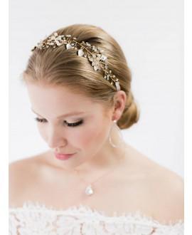 Abrazi Bandeau Cheveux Mariage HB-Leaf Rose