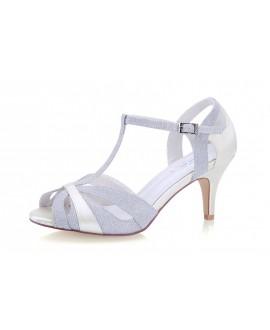 G. Westerleigh Chaussure de Mariage Corinne Argent