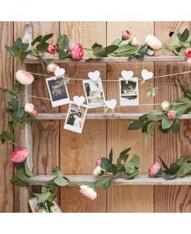Guirlande de rose décorative - Rustic Country