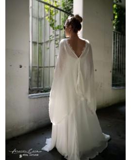 Poncho de mariée avec dentelle S5307 Forever & Eva