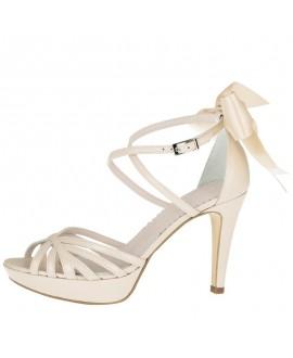 Fiarucci Bridal Chaussure de Mariage Dominique Cuir Nude