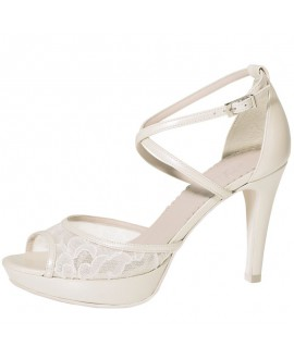 Fiarucci Bridal Chaussure de Mariage Keshia Perle Dentelle/ Cuir