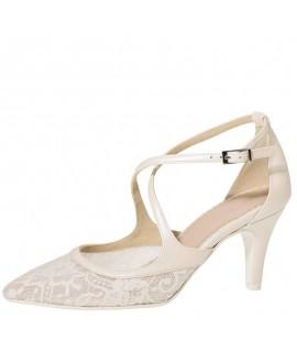 Fiarucci Bridal Chaussure de Mariage Mariella Dentelle Cuir