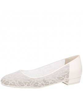 Fiarucci Bridal Chaussure de Mariage Pascalle Dentelle Cuir