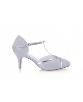 G. Westerleigh Chaussure de Mariage Zara Argent
