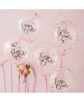 Ballons confettis Ginger Ray Team Bride FH-214