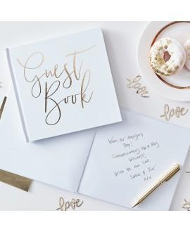Ginger Ray Gold Wedding Livre D'hotes De Mariage GO-134