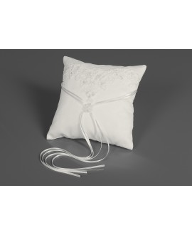 Coussin d'alliances en dentelle (K1) Bianco Evento