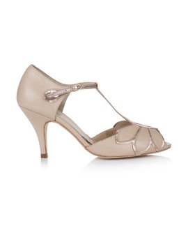 Rachel Simpson Chaussure Mariage Mimosa Nue Rose Or