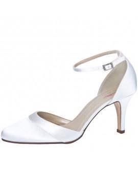 Rainbow Club Chaussures de mariée Amanda Satin Blanc