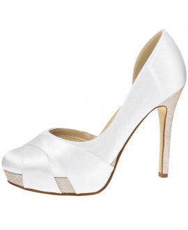 Rainbow Club Chaussure de Mariage Kelis Satin Blanc
