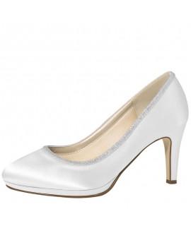 Rainbow Club Chaussure de Mariage Yanna Satin Blanc