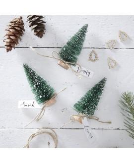 Arbres de Noël verts cartes de place   Rustic Christmas