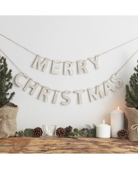 Guirlande de Noël en bois | Rustic Christmas
