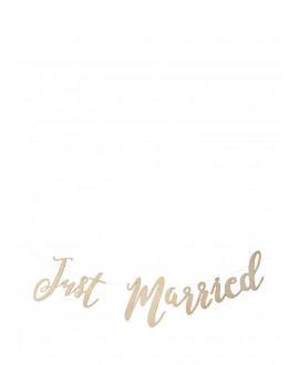 Guirlande Just Married en bois - Beautiful Botanics
